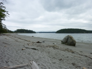 This gorgeous sandy beach is part of 60-acre Shaw Island County Park, one of the nicest in the San Juans.