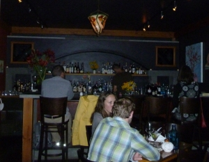 Cozy Bar at the Backdoor Kitchen restaurant in Friday Harbor, San Juan Island WA