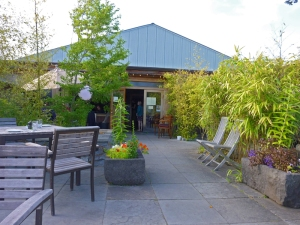 The Backdoor Kitchen dining patio - Friday Harbor, San Juan Island WA
