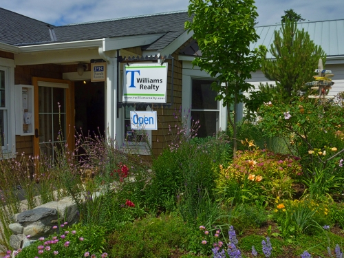 Bountiful garden at T Williams Realty in Eastsound, Orcas Island