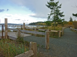 New boardwalk at Anacortes ferry landing