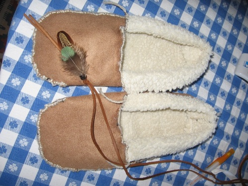 Moccasins made by Teri Williams