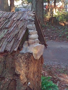 Chimney detail on the fairy house