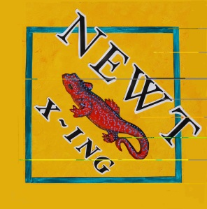 Newt Crossing sign from Kwiaht
