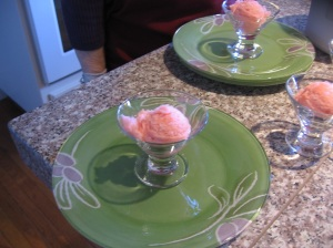 Melt in your mouth sorbet