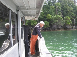 Eelgrass survey on Orcas Island