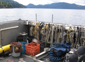 Jen Jay Diving Boat on Orcas Island