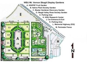 map of Skagit Valley Display Gardens