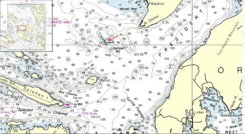 Nautical chart of White Rock, Orcas Island