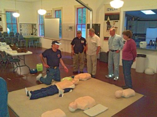 CPR class on Orcas Island