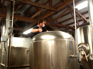 Brewmaster Nate creating the goodness.