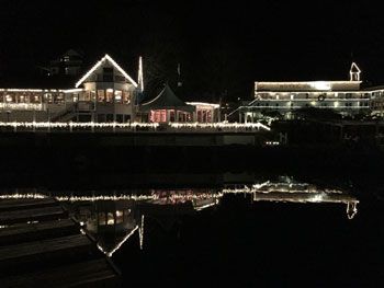 festive lights in Roche Harbor