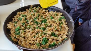 Fresh stinging nettle pasta.