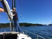 3 sails down