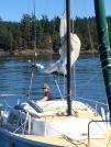 Rafting up in Blind Bay.