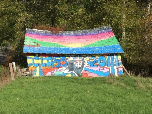 old orcas barn painted by incoming class