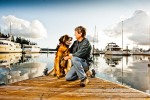 Murphy and Bob at the Deer Harbor dock