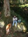 Lunch break at Cascade Falls, Moran State Park