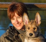 Sandi Friel and Picardy Shepherd Puppy, Quinn