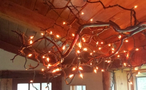 Sandi's madrone branch chandelier