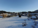 """The """"Village Green"""" all covered in white."""