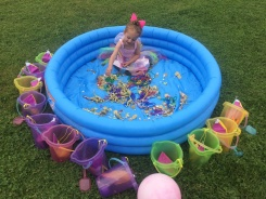 Getting the buried treasure pool ready!