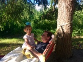 Hammock fun with Dad
